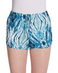 Rory Beca Overlap Tiedye Silk Shorts - Lyst