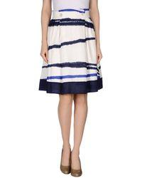 Emporio Armani Knee Length Skirt - Lyst