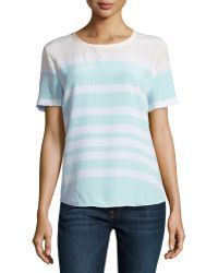 Equipment Riley Striped Washed Silk Top - Lyst