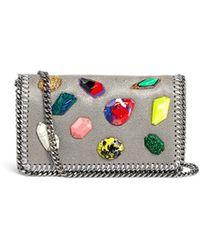 Stella McCartney 'Falabella' Mini Gemstone Crossbody Bag - Lyst