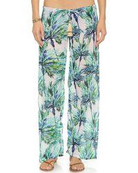 Pilyq Carter Beach Pants - Palms - Lyst