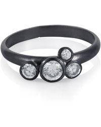 Caroline Creba - Bubble Charm Ring Rhodium - Lyst