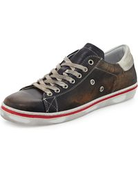 Rogue Worn Leather Laceup Sneaker - Lyst