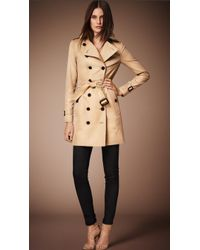 Burberry The Sandringham Mid-Length Heritage Trench Coat beige - Lyst