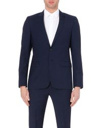 Sandro Wool And Mohair-Blend Suit Jacket - For Men blue - Lyst