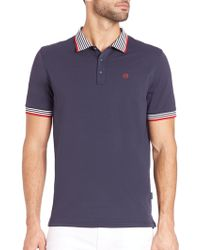 AG Green Label - Short Sleeve Pique Polo - Lyst