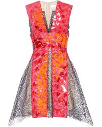 Peter Pilotto Phoenica Embellished Lace Dress multicolor - Lyst