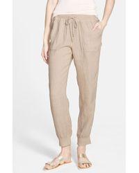 Stem - Linen Track Pants - Lyst
