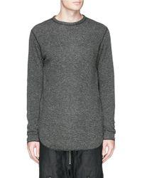 NLST - Contrast Seam Knit Sweatshirt - Lyst