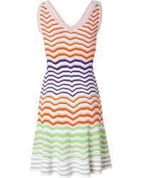 M Missoni Rainbow Knit Dress - Lyst