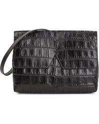 Vince - Small Black Leather Cross-body Bag - Lyst