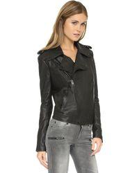 Superfine - Rider Leather Moto Jacket - Black - Lyst