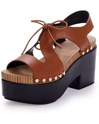 Balenciaga | Tie-Front Leather Clogs | Lyst