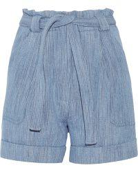 Paul & Joe Kelcalme Belted Cotton-Blend Shorts - Lyst