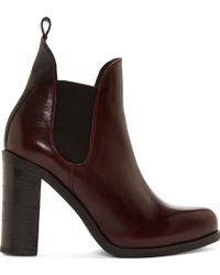 Rag & Bone Burgundy Stanton Chelsea Boots - Lyst