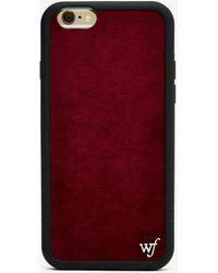 Nasty Gal - Wildflower Velvet Iphone 6 Case - Lyst