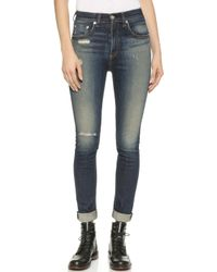 Rag & Bone The Justine High Rise Skinny Jeans - Mateos - Lyst