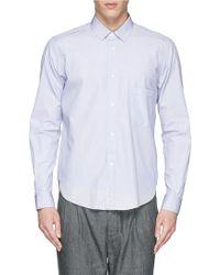 Covert 'Over' Stripe Cotton Poplin Shirt blue - Lyst