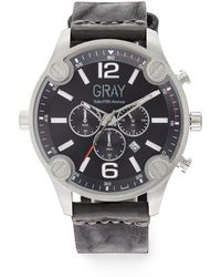 Saks Fifth Avenue - Stainless Steel & Leather Strap Watch - Lyst