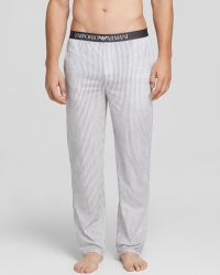 Emporio Armani Stripe Cotton Lounge Pants - Lyst