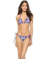 Milly Biarritz String Bikini Bottoms - Blue - Lyst