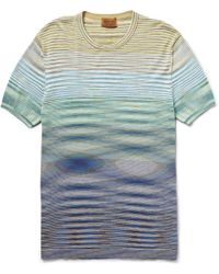 Missoni Striped Knitted-Cotton T-Shirt - Lyst