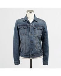 J.Crew Factory Denim Jacket - Lyst