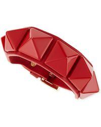 Valentino Medium Rockstud Leather Bracelet - Lyst