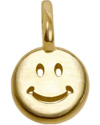 Alex Woo 14kt Yellow Gold Smiley Face Charm - Lyst
