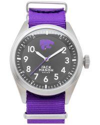Jack Mason Brand - 'kansas State University Wildcats' Nato Strap Watch - Lyst