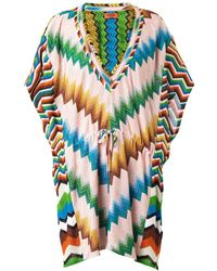 Missoni Mare Chevron Multi-knit Kaftan - Lyst