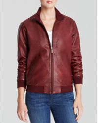 True Religion Jacket  Liv Fitted Leather Bomber - Lyst