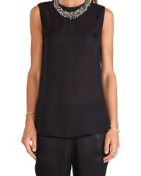 Haute Hippie Sleeveless Blouse with Detachable Dickie - Lyst