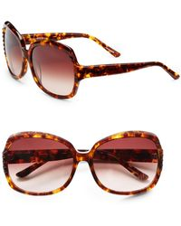 Saks Fifth Avenue - Kim Round Plastic Sunglasses - Lyst