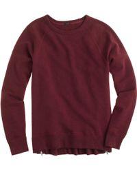 J.Crew | Zip Tunic Sweatshirt | Lyst