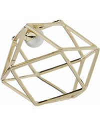 TOPSHOP - Hexagon And Hidden Pearl Ring - Lyst