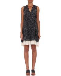 Proenza Schouler Woodcut Block-print Flared Dress - Lyst