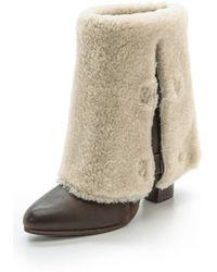 Belle By Sigerson Morrison Felica Shearling Boots - Tartufo - Lyst