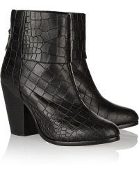 Rag & Bone Classic Newbury Croc-Effect Leather Boots - Lyst