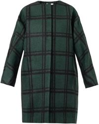 Marni Checked Wool Coat - Lyst