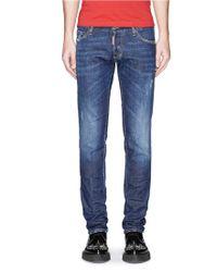DSquared² Bead Rivet Slim Fit Jeans blue - Lyst
