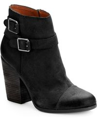 Lucky Brand Lauron Leather Ankle Boots - Lyst