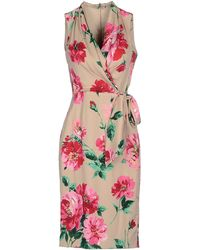 Dolce & Gabbana Wisteria Print Dress floral - Lyst