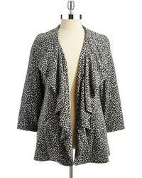 Calvin Klein Plus Ruffle Front Jacket - Lyst