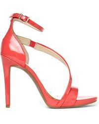 Jessica Simpson Grapefruit Patent Rayli Sandals - Lyst
