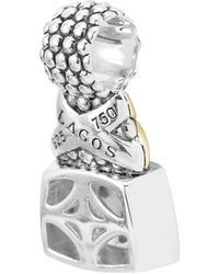 Lagos - 18k Gold And Sterling Silver X Pendant With Pave Diamonds - Lyst