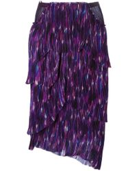 Burberry Prorsum Layered Pleated Skirt multicolor - Lyst