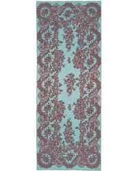 Valentino Floral Lace Print Silk Scarf multicolor - Lyst