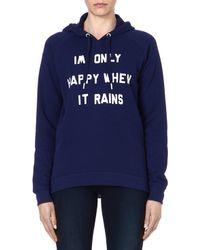 Zoe Karssen Only Happy When It Rains Sweatshirt - Lyst