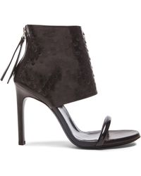 McQ by Alexander McQueen Cleo Leather Sock Sandals - Lyst